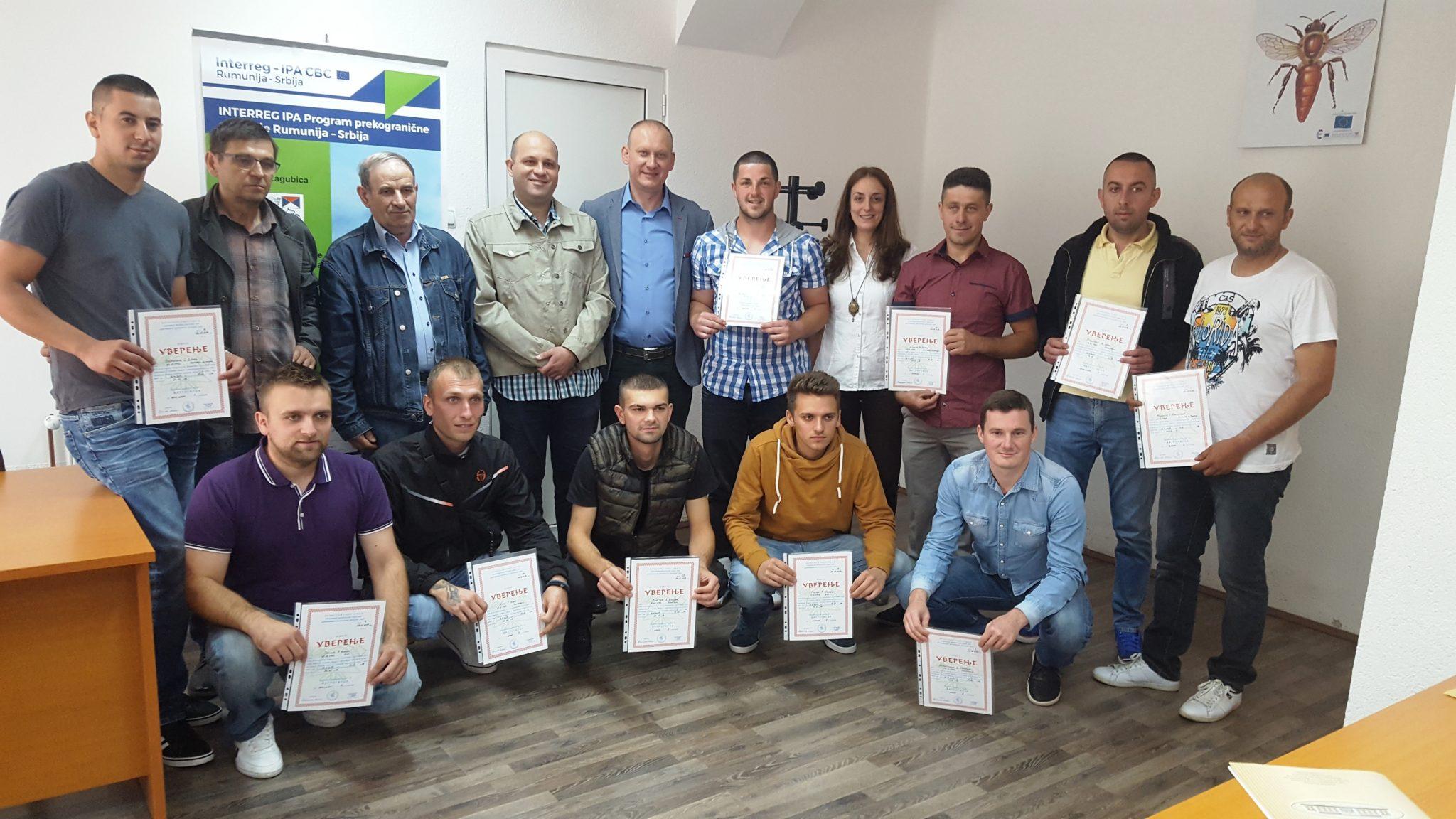 """Dodela sertifikata vatrogascima u okviru projekta """"Vatrogasci i upravljanje vanrednim situacijama Rekaš-Žagubica"""""""