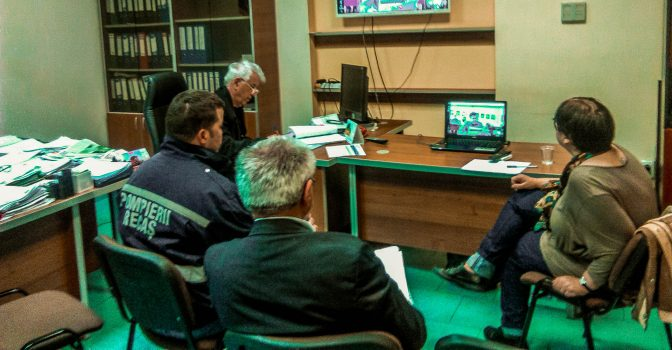 Video conference of cross-border partners